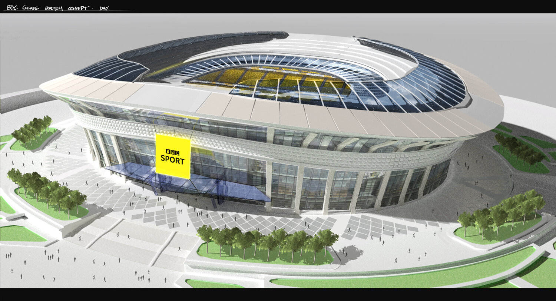 BBCStadium Exterior Concept by Streamline