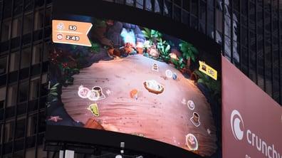 project monarch times square billboard mobile game
