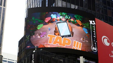 project monarch billboard action shot Tap