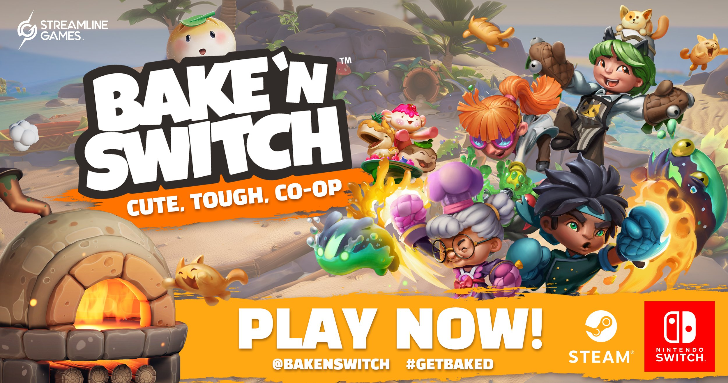 Bake 'n Switch Now Available on Steam & Nintendo Switch!